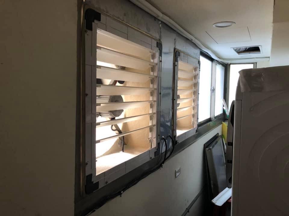 台中診所安裝負壓風扇 凱煒通風設備